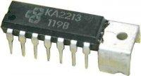 KA2213-snímací/záznam/nf zesilovač 2W (Ucc=5-9V)