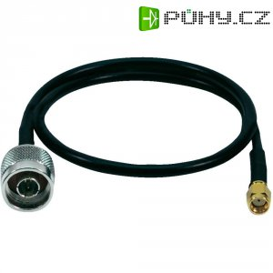 Anténní prodlužovací kabel LogiLink® Pigtail, 0,5 m, černý