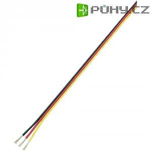 Servo kabel plochý Modelcraft, 5 m, 3 x 0.08 mm², červená/černá/žlutá