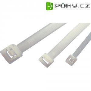 Stahovací rozepínací pásky HellermannTyton RLT150-W-BK-L1, 770 x 8,9 mm, 50 ks, černá