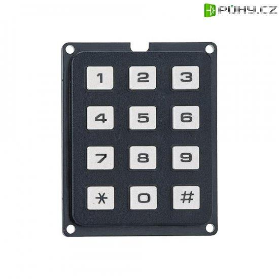 Tlačítkové pole Matrix, 3 x 4, 250 V, 1 A - Kliknutím na obrázek zavřete