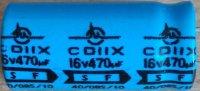 470u/16V 85° 10x21x5,5mm, elektrolyt.kondenzátor radiální