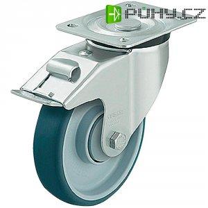 Polyuretanové otočné kolečko s kontrukční deskou a brzdou, Ø 160 mm, Blickle 472290