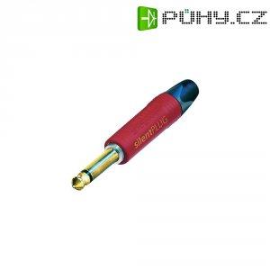 Jack konektor 6,35 mm mono Neutrik NP2X-AU-SILENT, zástrčka rovná, 4 - 7 mm, 2pól., červená/černá