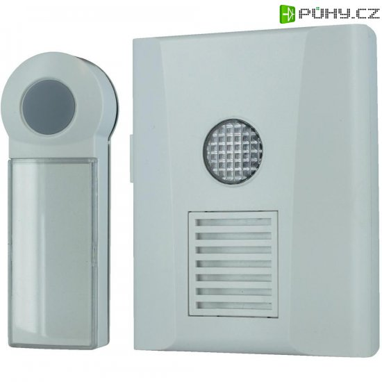 Bezdrátový zvonek s optickou signalizací Home Easy, HE821S, bílá - Kliknutím na obrázek zavřete