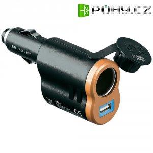 USB nabíječka 2v1 Goobay, 43561, 12 V ⇔ 5 V, 5 A