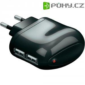 USB nabíječka Goobay Tra 44013, 2x USB, černá