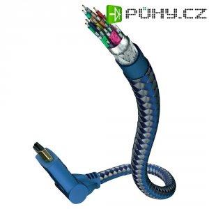 HDMI kabel s eth. konektory 180°, vidlice ⇒ vidlice, 1 m, černý, Inakustik