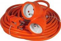 Prodlužovací přívod 20m-2x16A,3x1,5mm2,16A,oranž.