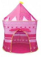 Dětský stan pro děti, zámek - ružový