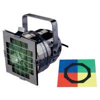 Halogenový reflektor Eurolite PAR 56 Short, 42000825, 300 W, bílá + 4 ks barevných filtrů