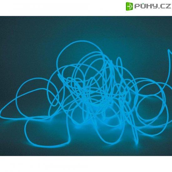 Elektroluminiscenční kabel, Ø 2 mm, 10 m, modrá - Kliknutím na obrázek zavřete