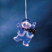 Akrylátový sněhulák Konstsmide , 7 x 9,5 cm, 1 modrá LED