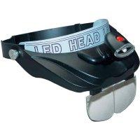 Profesionální čelní lupa s LED osvětlením RONA 450502, zvětšení 1,2x/1,8x/2,5x/3,5x