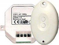 Dálkové ovládání 433MHz 1kanálové 230V/280Wmax