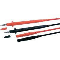 Sada měřicích kabelů banánek 4 mm ⇔ měřící hrot MultiContact MC-6, 1 m, černá/červená