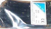 Stahovací páska 3,6x370mm černá, balení 100ks