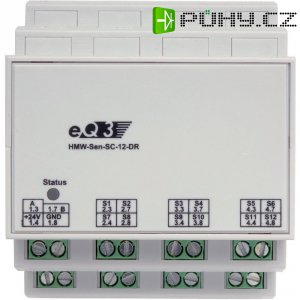Spínací modul RS485 na DIN lištu HomeMatic HMW-Sen-SC-12-DR, 85840, 12 vstupů