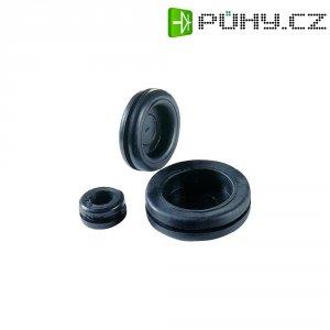 Záslepka Richco DGB-4, 12,5 x 9,5 x 6,4 x 1,5 x 6,4 mm, černá