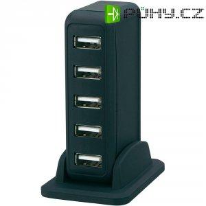 USB 2.0 hub, 7-portový, vertikální