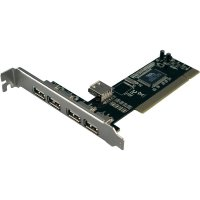 USB hub do PCI slotu LogiLink WL0006, USB 2.0 4 + 1