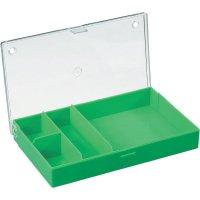Zásobník na součástky (krabička) - 4 přihrádky, 164 x 31 x 101 mm