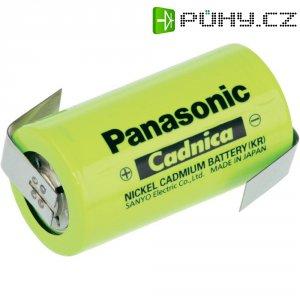 Akumulátor NiCd Panasonic C s pájecími kontakty, 3000 mAh