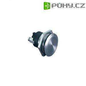 Tlačítko antivandal bez aretace Bulgin MP0037, 50 V, 1 A, nerezová ocel, 1x vyp/(zap)