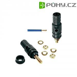 Bezpečnostní konektor 32 A MultiContact 23.0410-21, (Ø) 4 mm, černá