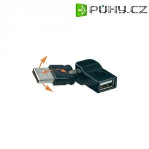 Profi adaptér USB 2.0, úhlový,černý