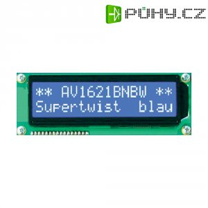 LCD displej Anag Vision, AV1621BNBW-WJ, 13,6 mm, Anag V, bílá/modrá