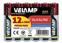 VELAMP Multibalení 12 primárních alkalických AAA baterií LR03/12PACK