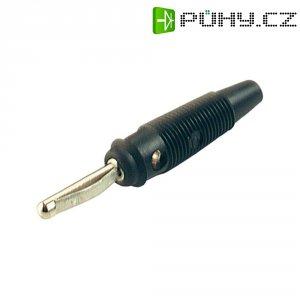Banánkový konektor zástrčka, rovná Ø pin: 4 mm černá SKS Hirschmann VQ 30 1 ks