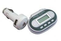 FM transmitter LCD vysílač FM pro MP3 přehrávače, ipod, walkman