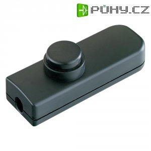 Šňůrový vypínač interBär série 8011, 1pólový, 250 V/AC, 2 A, černá