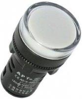 Kontrolka 230V LED 29mm AD16-22DS, bílá