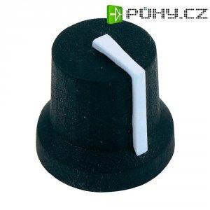 Otočný knoflík Cliff CL170841CR, pro sérii K87MBR, 6 mm, s drážkováním, černá