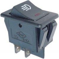 Vypínač kolébkový ON-OFF ASW-17D 2pol.12V/35A, červené prosvětlení