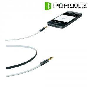 Připojovací kabel CellularLine, jack zástr. 3.5 mm/ jack zástr. 3.5 mm, bílý, 1 m