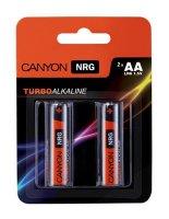 Baterie AA (LR6) alkalická CANYON blistr 2ks