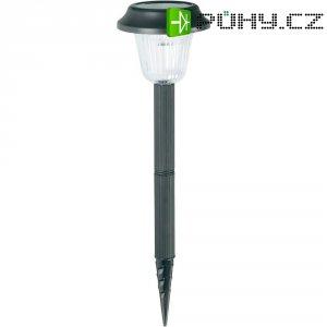 Solární zahradní LED svítidlo, černá, zapichovací