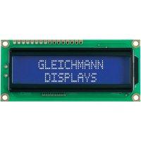 LCD displej Gleichmann, GE-C1602B-TFH-JT/R, 13,2 mm, bílá/černá