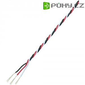 Servo kabel kroucený Modelcraft, 5 m, 3 x 0.17 mm², červená/černá/bílá