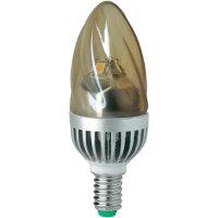 LED žárovka Megaman, E14, 5 W, teplá bílá, tvar svíčky, zlatá