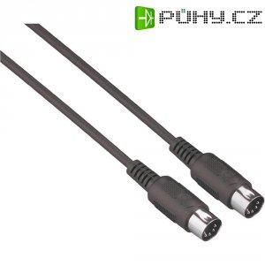 MIDI kabel černý Paccs HMD05BK100SD, (M) / (M), 10 m, černá