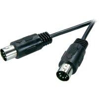 Připojovací kabel SpeaKa, DIN/cinch, zástr. 5-pól., černý, 5 m