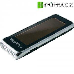 Solární kapesní LED svítilna Varta, 17690101401, 3,6 V, černá/stříbrná