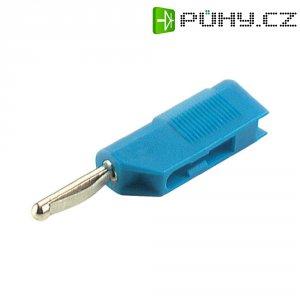 Banánkový konektor Ø pin: 4 mm SKS Hirschmann VSB 20, zástrčka, rovná, modrá, 1 ks