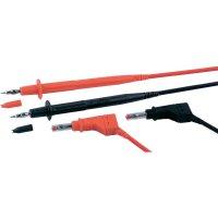 Sada měřicích kabelů banánek 4 mm ⇔ banánek 4 mm MultiContact MC-4, 1 m, černá/červená