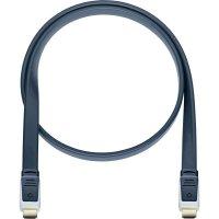 Oehlbach High Speed HDMI plochý kabel s Ethernetem, Flat Magic, 7,5 m